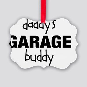 Daddys Garage Buddy Picture Ornament